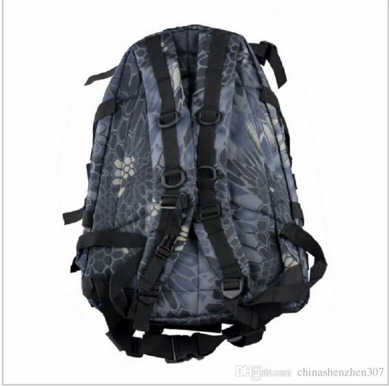 Para los colores Trekking Molle 3D 40L Tactical 9 RUCKSCK MAQUILLO MILITANDO Bolsa de senderismo Camping Viajar Mochila al aire libre LVCRS