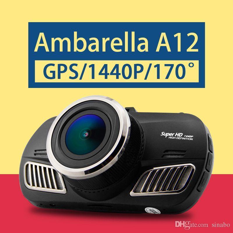 Ambarella A12 자동차 DVR 슈퍼 HD 1440P 자동차 캠코더 GPS 블랙 박스 DVR 170도보기 각도 렌즈 야간 비전 대시 캠 D201