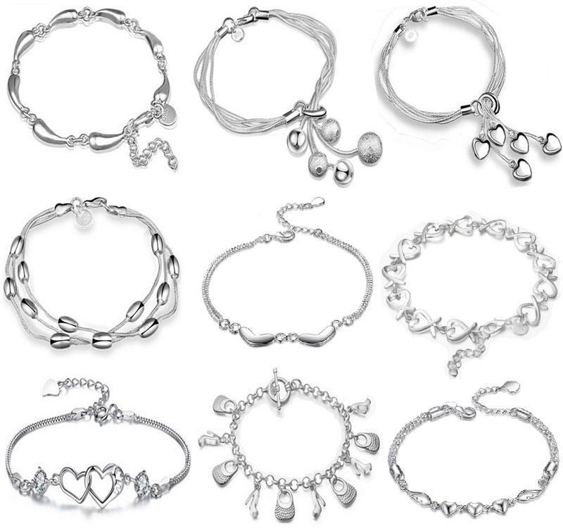 Top Qualité 925 Sterling Silver Bracelet Bracelets Bijoux De Mode 925 Argent Serpent Chaîne De Serpent Bracelets Pendentif Bracelet Bijoux Livraison gratuite