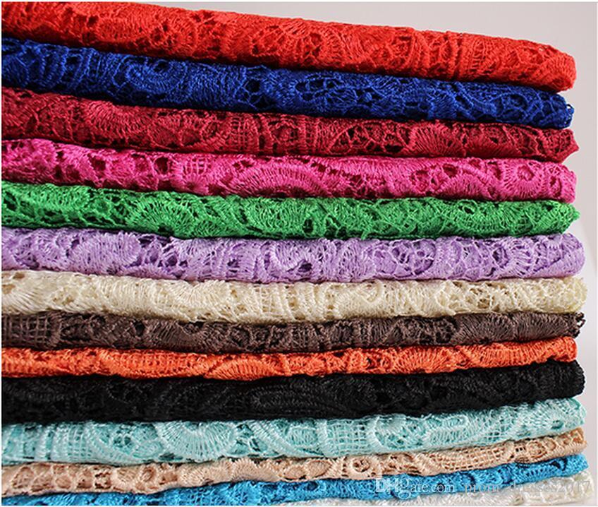 2019 billig versandkostenfrei tops hochwertige mischung 11 farbe wasserlösliche 3d afrikanische spitze venedig spitze kleid stoffe hy1182