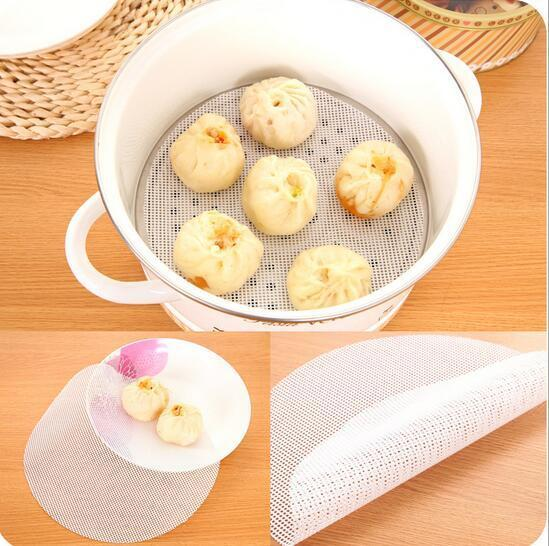 New Arrive 24cm Round Silicone Eco-friendly Steamer Pad Steamed Stuffed Bun Bread Pad Household Steamer Steamed Dumplings Mat