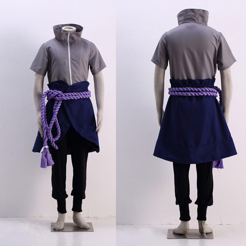 Popular Japanese Anime COS Naruto Uchiha Sasuke 4a Generazione Cosplay Costume Custom Made Uniforme Any Size