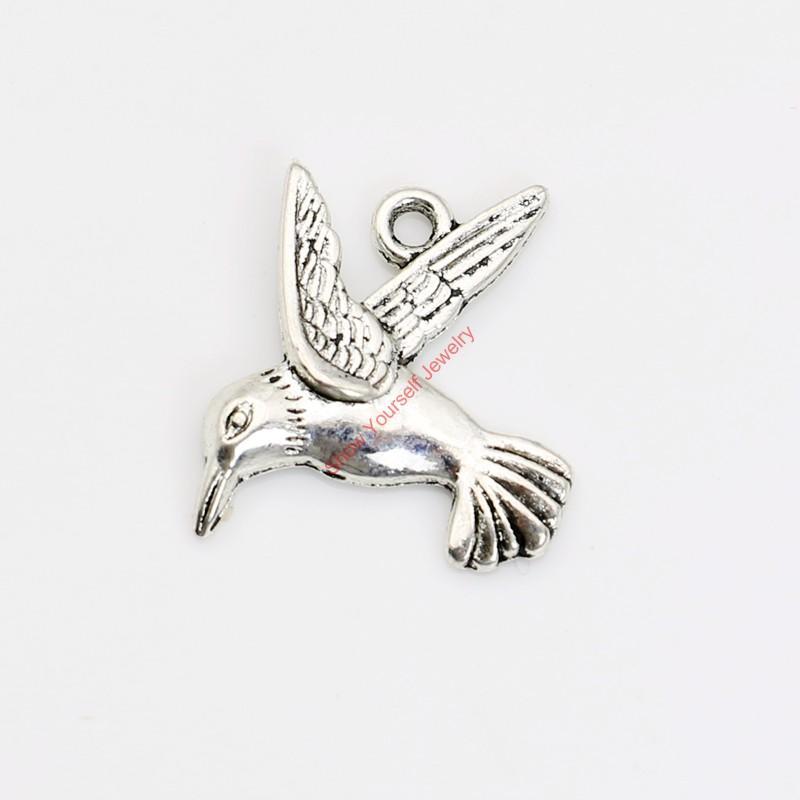 10 stücke Antike Silber Überzogene Taube Vögel Charme Anhänger für Armband Halskette Schmuck Machen DIY Handgemachtes Handwerk 25x20mm