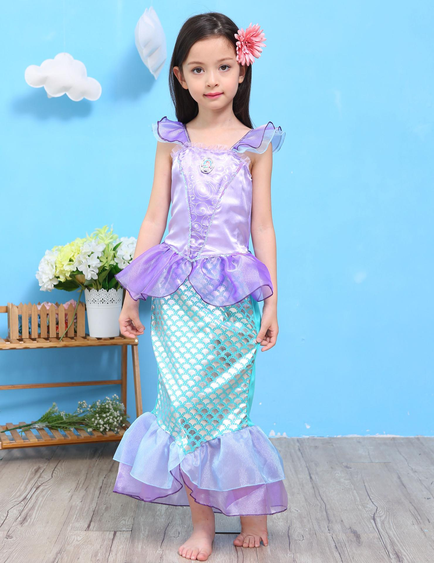 2018 New Big Girls Mermaid Dress Children\'S Party Dresses Fashion ...
