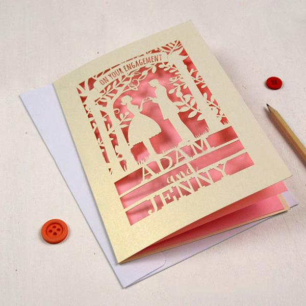 126185Cm Invitation Card Design Wedding Envelope Laser Cut Printing Hollow Embossing Process