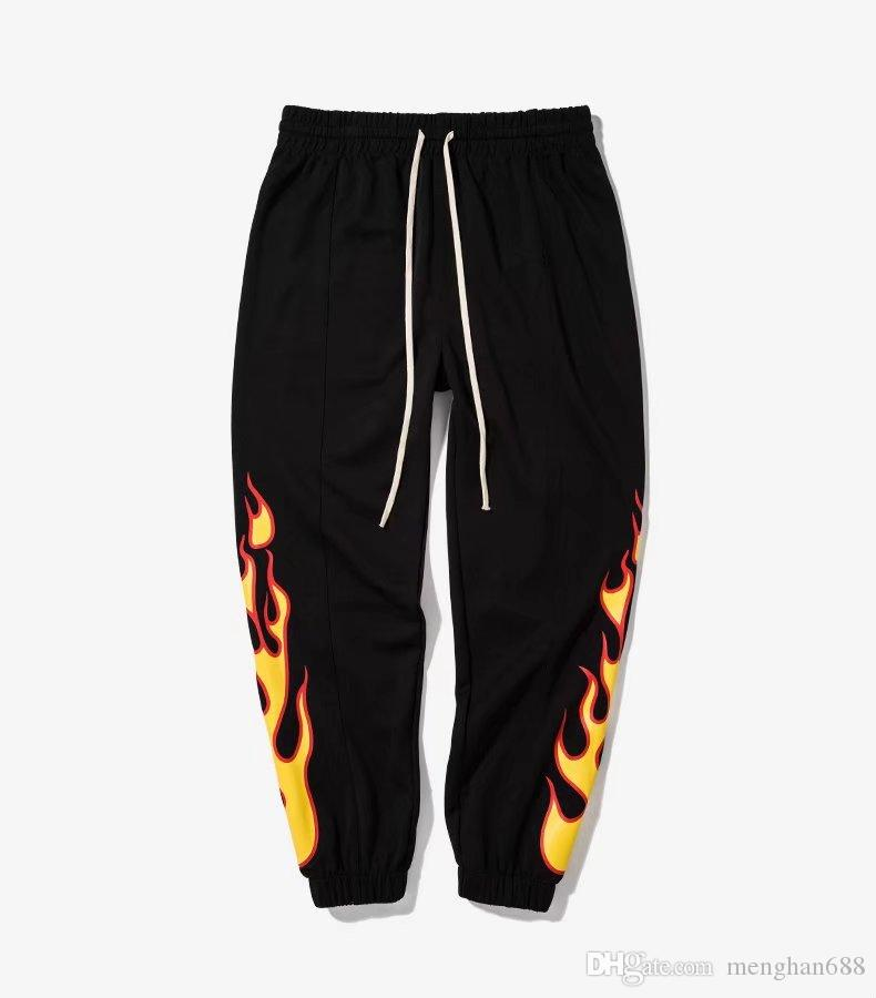 2020 Flame Fire Printed Harem Pants Men Hip Hop Casual Elastic Waist Swag Sweatpant Male Fashion Trousers Joggers Streetwear From Menghan688, $22.34 |
