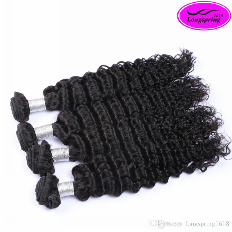 Clearance Sale!!! 8A Unprocessed Brazilian Hair Weft Deep Wave 3pcs lot Cheap Human Hair Extensions 100% Human Hair Weave Can be Dyed