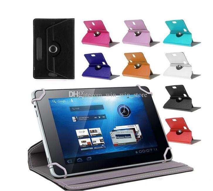 Universal 7 inch PU Leather Case 360 Degree Rotate Protective Stand Cover For 7 inch Tablet PC Fold Flip Cases