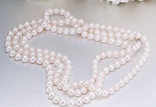 Vendita calda 9-10mm naturale south seas bianco collana di perle 38 pollici 925 chiusura in argento
