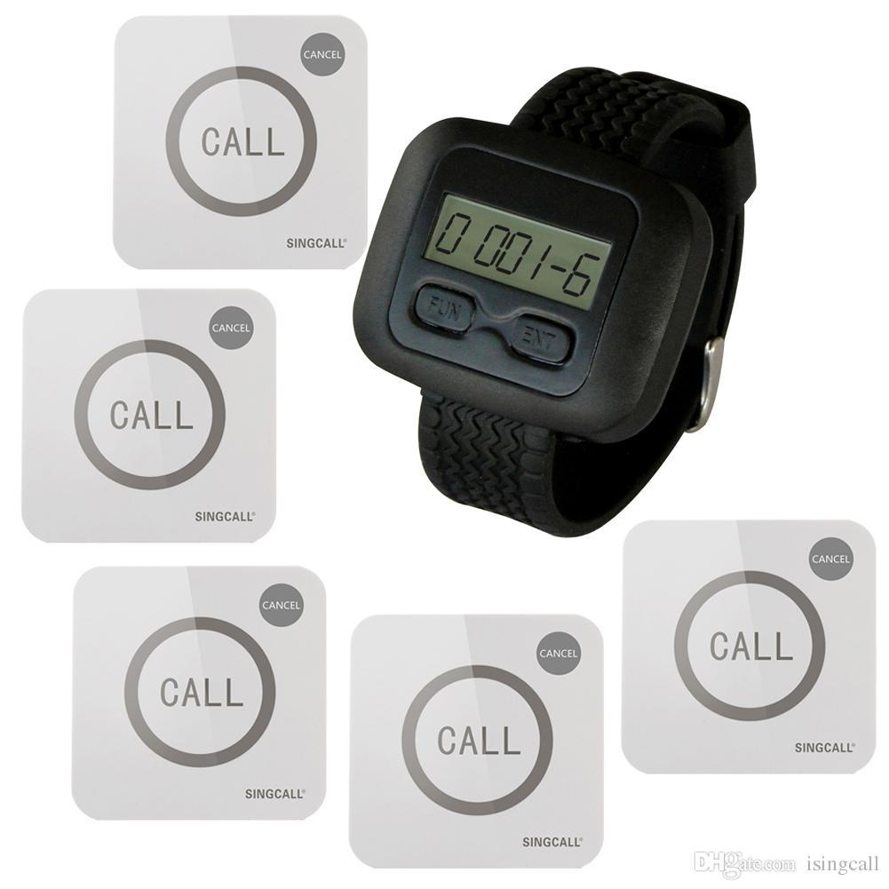 SINGCALL Wireless Nursing Calling System für Krankenhäuser 1 Watch 5 Touch Buttons Schreiben Sie die erste Kundenmeinung