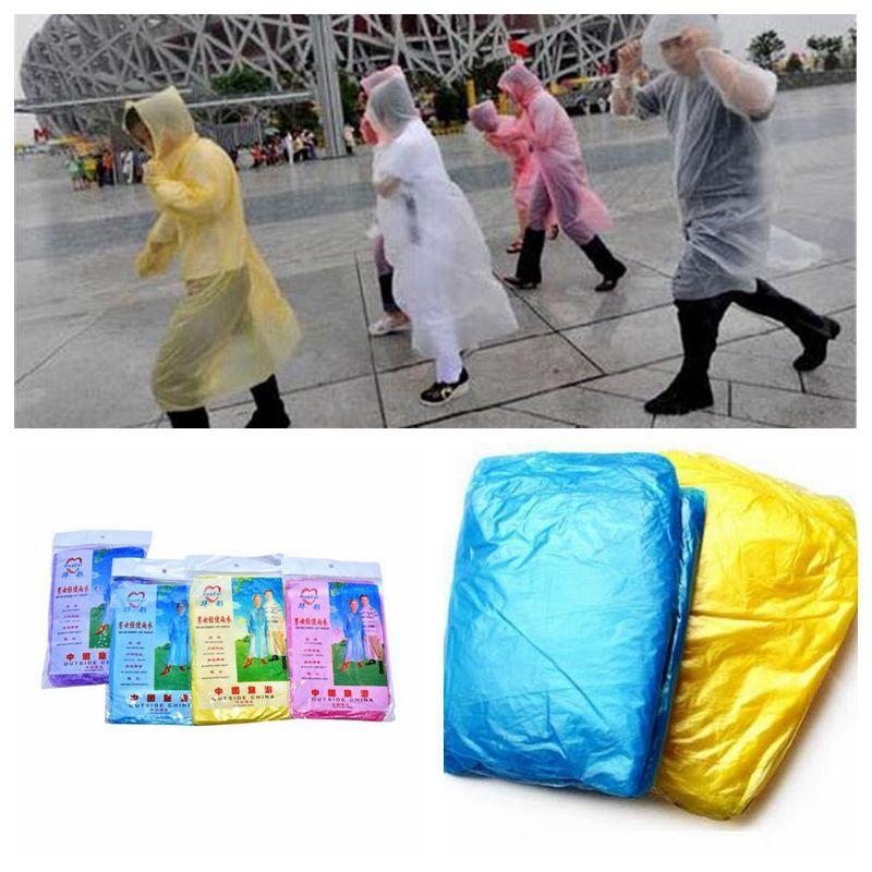 Мода одноразовый дождевик горячие одноразовые PE одноразовые плащи пончо дождевики путешествия дождь пальто дождя носить 3000шт