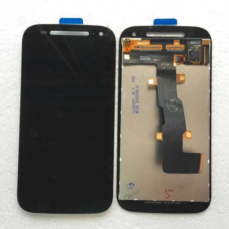 Assemblaggio con fusibile LCD da 4,5 pollici per Motorola Moto E2 2nd Gen XT1526 XT1527 XT1528 Parti di riparazione nere