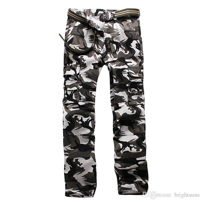 2016 Hommes En Plein Air Sports Salopettes Mâle Multi Poche Pantalon Camouflage Pantalon Hommes Installé Escalade Pantalon Oversize 28-40