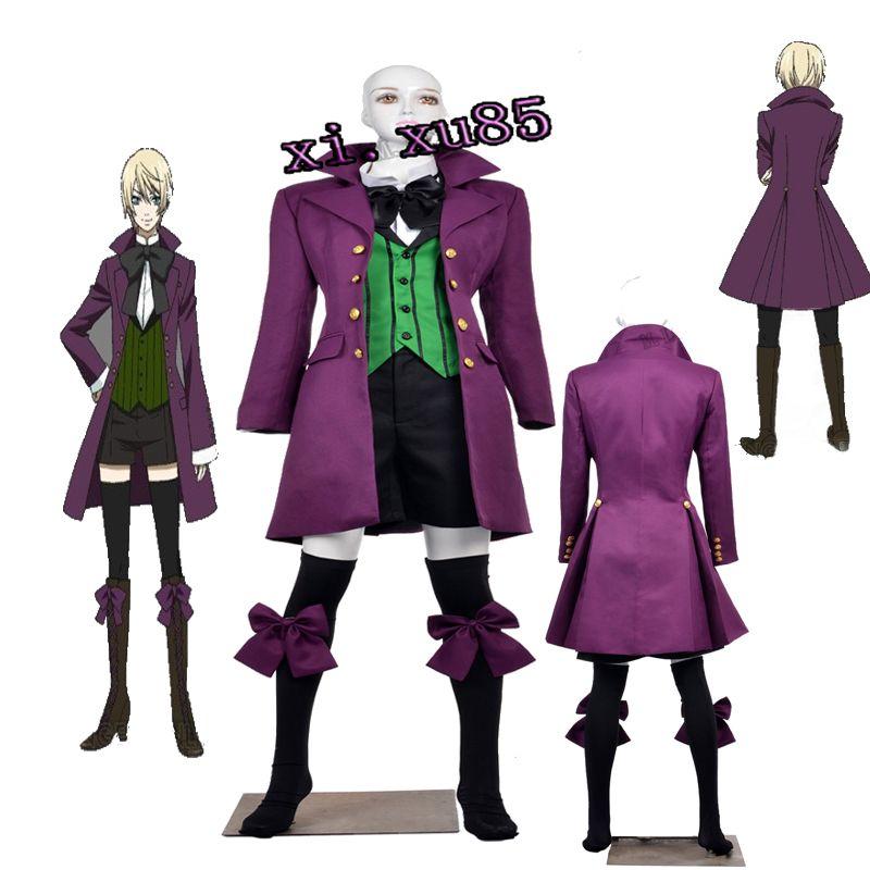 Black Butler 2 Earl Alois Trancy Full Set Suit Cosplay Costume Unisex