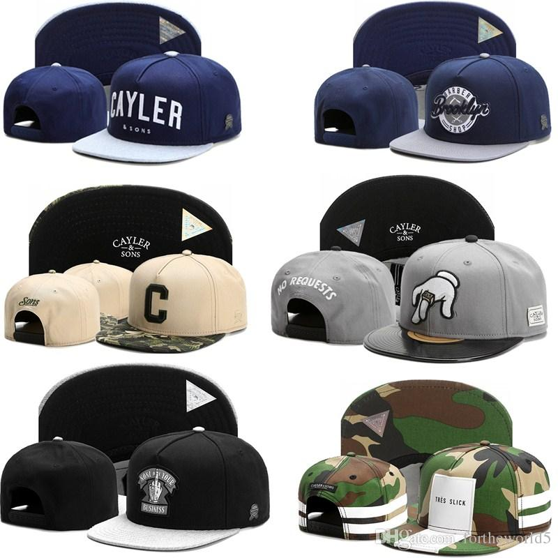 2016 Hot Brand New Cayler Sons Cappellino Snapback Regolabile Cappelli Sportivi Per Uomo Donna Cappelli Da Baseball Moda hip hop Cappelli 1 pz trasporto di goccia