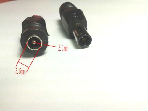 50pcs DC 7.4x5.0mm prise mâle à 5.5x2.1mm femelle adaptateur DC adaptateur secteur