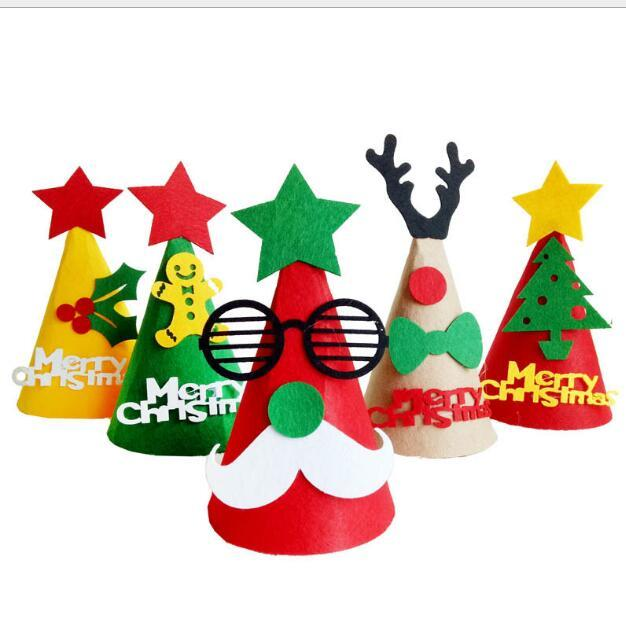 Christmas Hats For Kids.Christmas Decoration Hat Diy Christmas Hats Gifts Children Christmas Gift 1mm Santa Claus Xmas Tree Hats Ornaments Outside Xmas Decorations Sale Paper