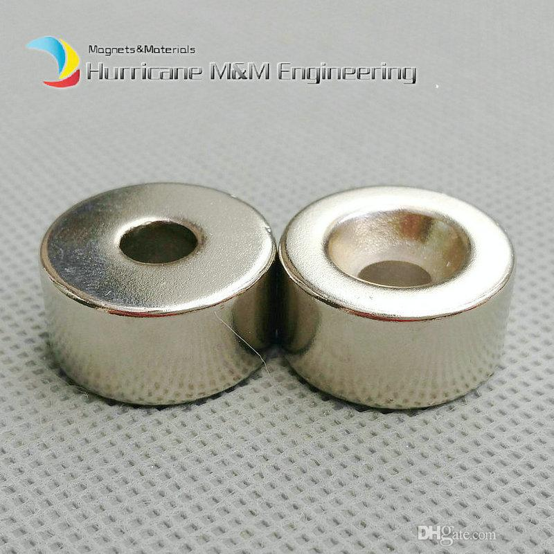 300pcs Countersunk Hole Magnet about Diameter 20x10mm Thick M5 Screw Countersunk Hole Neodymium Rare Earth Permanent Magnet