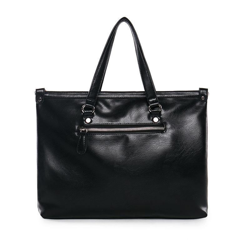 Venda por atacado- a0228 couro laptop sacs malas bolsas 14 ombro mensageiro bussiness homens homens bolsas saco preto polegada boflk