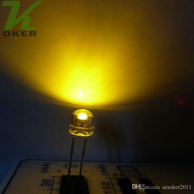 1000pcs 5 밀리미터 밀짚 모자는 LED 가벼운 다이오드 LED가 5mm 밀짚 모자를지도했다