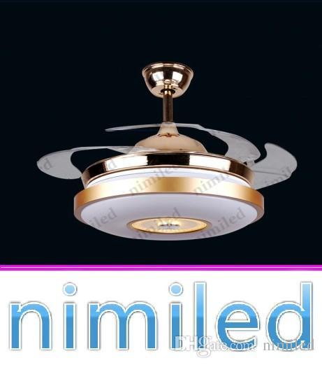 """Nimi902 36 """"/ 42"""" unsichtbare ABS Blätter LED Deckenventilator Licht Kronleuchter Schlafzimmer Lichter Restaurant Pendelleuchten Fernbedienung"""