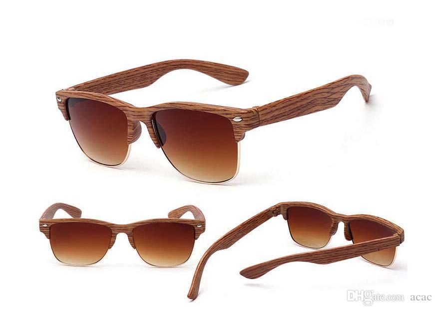 60PCS occhiali da sole polarizzati alla moda dell'Europa Occhiali da sole per uomo donna selvaggia grano di legno occhiali da sole occhiali da sole 7 colori spedizione gratuita DHL