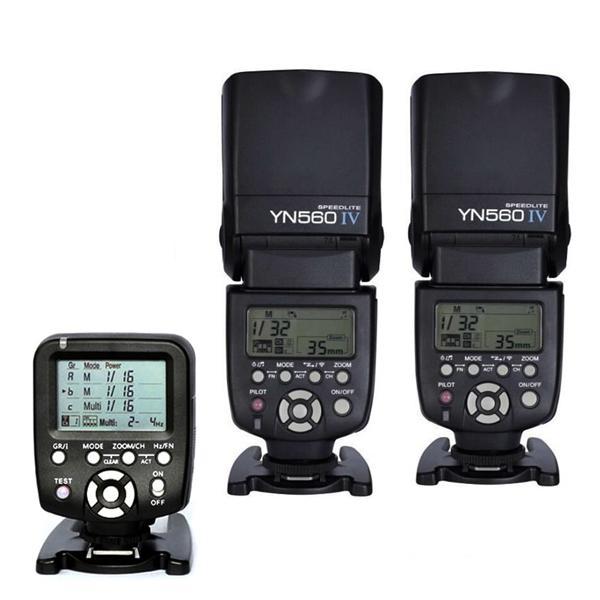 Yongnuo YN560-TX 2.4G Wireless Trigger Controller + 2 pezzi Flash YN560IV Speedlite YN-560 IV Diffusore gratuito per fotocamera DSLR Canon Nikon