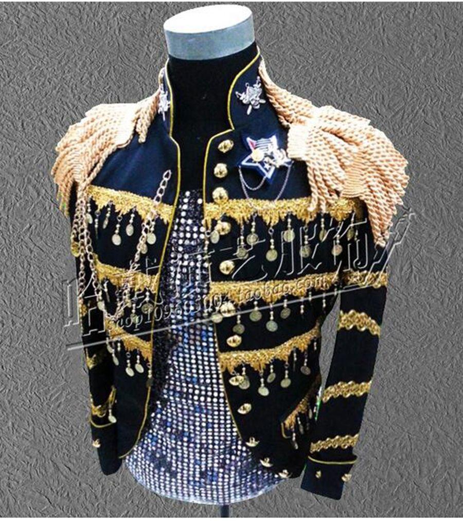 New Han's fashion han édition euramerican star nightclub chanteur performance stade paillettes vestes.S - 4 xl