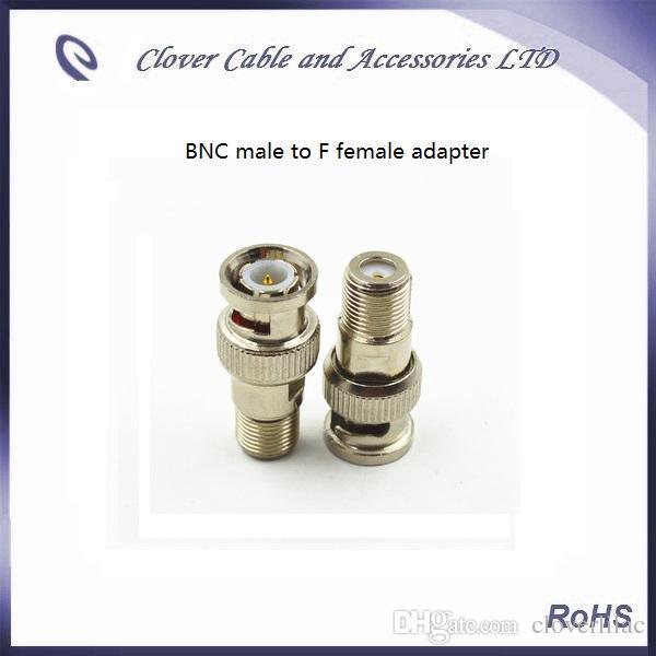 Хорошее качество и бесплатная доставка 50 шт. / Лот BNC мужчина к F женский CATV разъем BNC адаптер