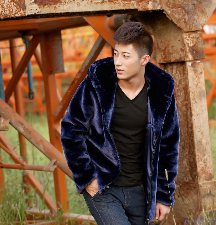 Wholesale Fall Mens Faux Fur Coat Hood Motorcycle Hooded Leather ...