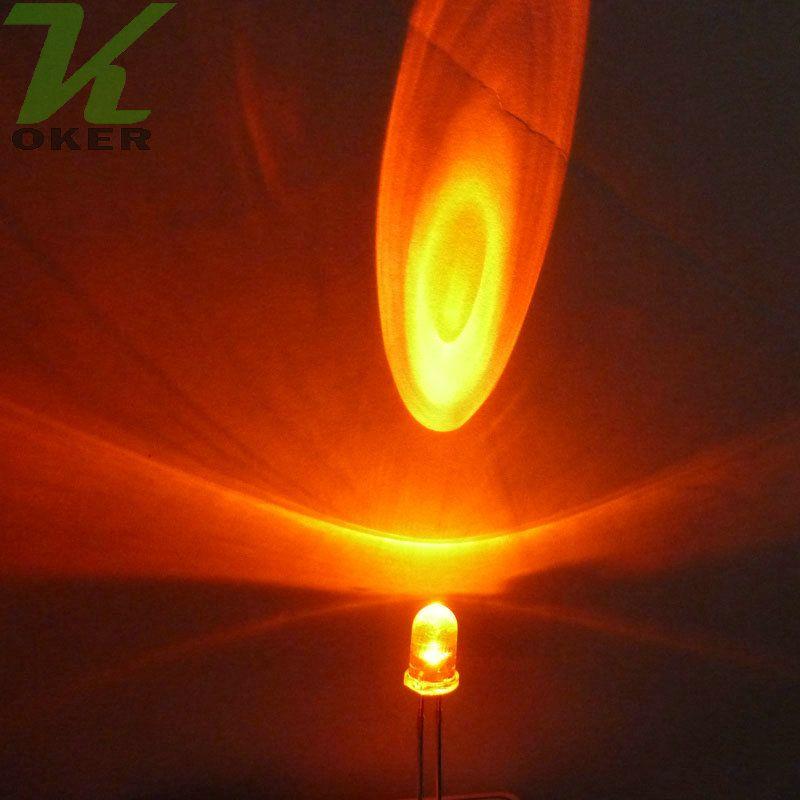La lampada chiara arancione rotonda dell'acqua di 1000pcs 5mm LED ha condotto le lampade principali arancio diodi 5mm LED Trasporto libero
