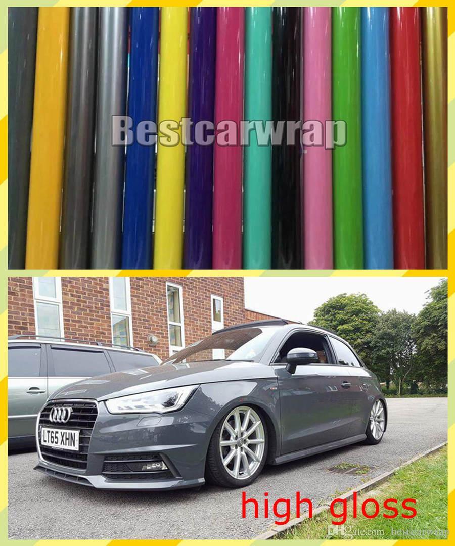 Vari colori Vinyl Ultra Gloss per copertura di involucri auto con uscita dell'aria con 3 strati Bassa inclinazione colla 3m Dimensione di qualità 1.52x20m / rotolo