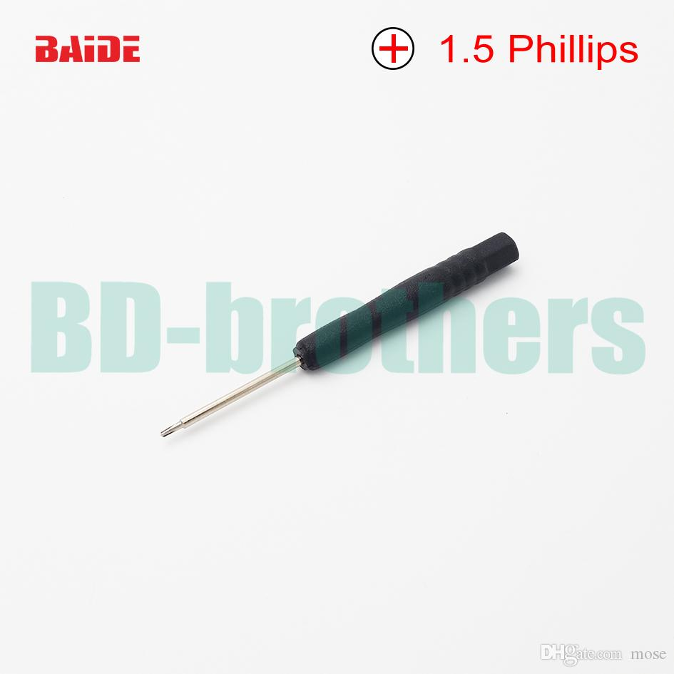 1.5mm Mini Hoofd Phillips Schroevendraaier, + Kruiskop Schroevendraaiers, Schroevendraaier, Reparatie PRY Open Tool voor iPhone Mobiele Telefoon S4 2000pcs / lot
