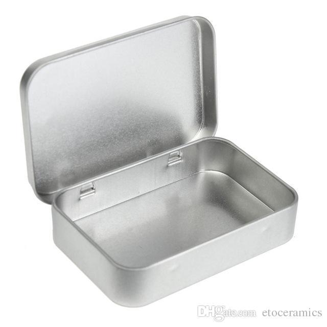 Venta al por mayor kit de supervivencia de estaño Higen tapa pequeña caja de almacenaje de metal de plata Flip Flip caja organizador para dinero monedas claves del caramelo H210571