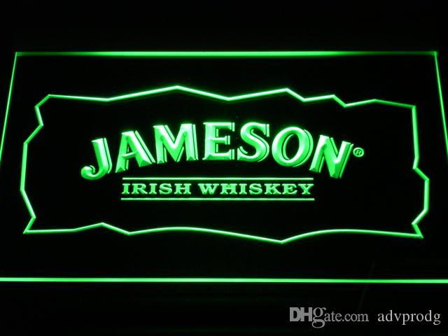 A159 جيمسون ويسكي النيون البيرة بار الديكور شحن مجاني دروبشيبينغ بالجملة 7 ألوان للاختيار