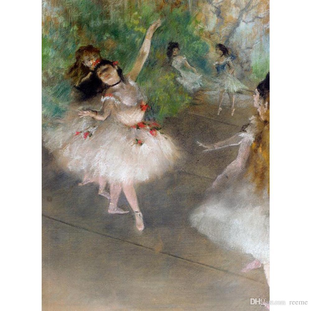 벽화 Edgar Degas Dancers, c. 캔버스에 오일 홈 장식 손으로 그린