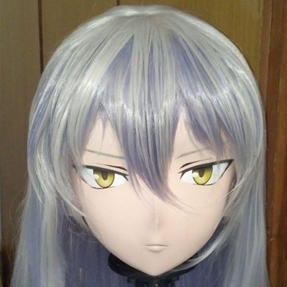 (C2-033) Bom Kigurumi Pele Olhando Fêmea Full Face Anime KIG Máscaras Cosplay Kigurumi Crossdresser Fetish Personagem Role Play