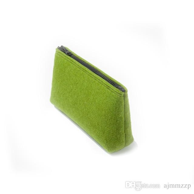 Felt makeup wash bag Cosmetic bag simple sundries bag drop shipping Can be customized adding logo