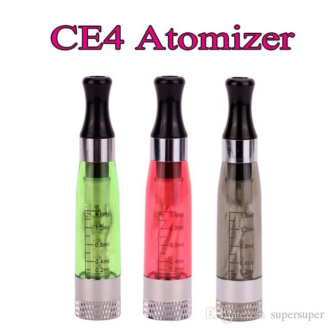 CE4 Atomizer 1.6ml 2.4OHM Ingen läckande tank 510 Trådförångare för EGO T Evod Twist Vision Vaporizer Tom patron