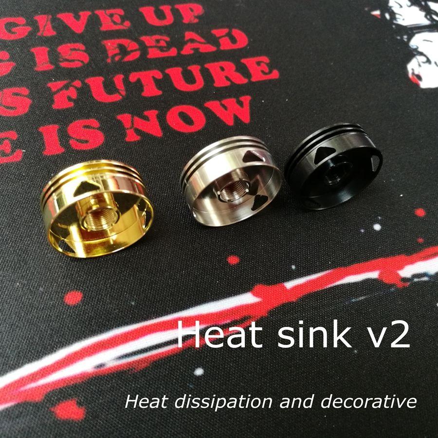Dissipatore di calore v2.0 aggiornamento Dissipatore di calore dissipatore di calore protezione decorativa bellezza anello 510 adattatore connettore per vape rda mod DHL