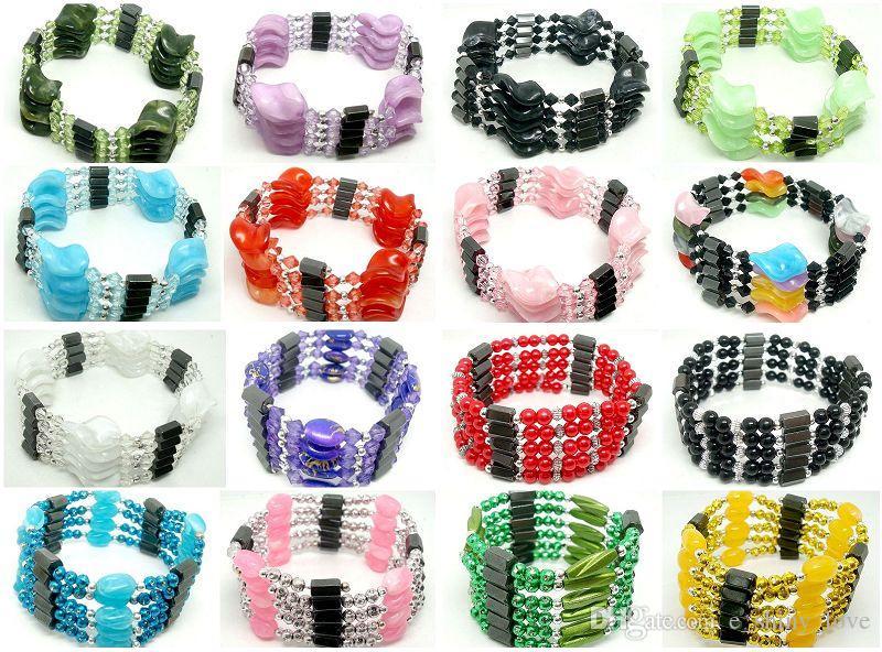 10 pz / lotto bella mista moda donna magnetico genuino ematite perline fili per il braccialetto collana di cavigliere regalo
