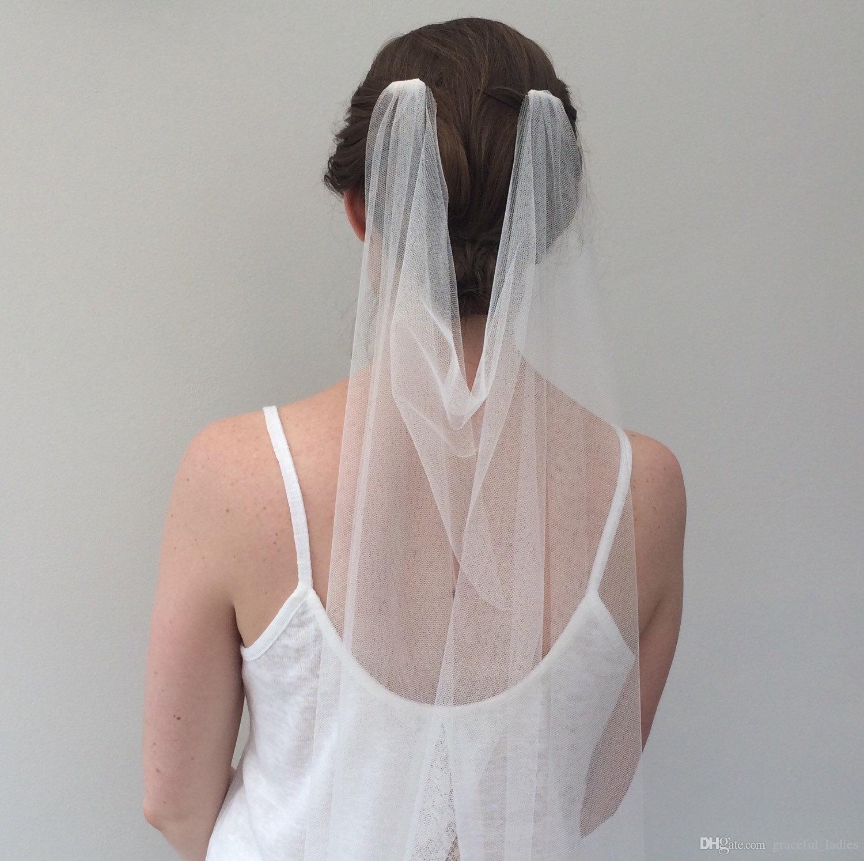 Fildişi Zarif Gelin Veils Sevimli Tarak Drape Düğün Peçe 'Oxford' Drape Veil Bohemian Kişiselleştirilmiş Renkli Veils Gelinler için