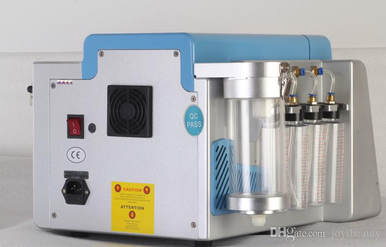 Pantalla táctil 2 en 1 Microdermabrasión Diamante Hydra dermoabrasión Hydrafacial Agua Oxígeno Jet Peeling máquina facial con cuatro botella de limpieza
