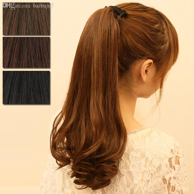 Wholesale-Free Shipping Curly Make Up Women Big Horsetail Synthetic New Clip in Ponytail Hairpiece Hair Extension Hair Piece Pony#L04026