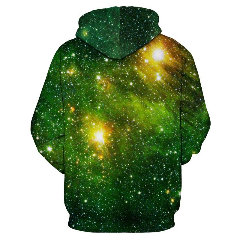 Space Galaxy 3d Sweatshirts Men/Women Hoodies With Hat Print Stars Autumn Winter Loose Thin Hooded Hoody Tops