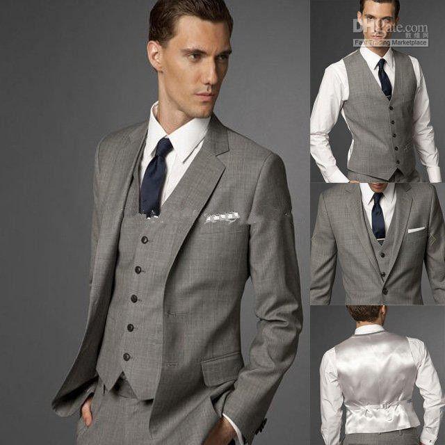 Abito uomo nero con due bottoni Groom smoking groomsman (giacca + pantaloni + papillon) Personalizzato