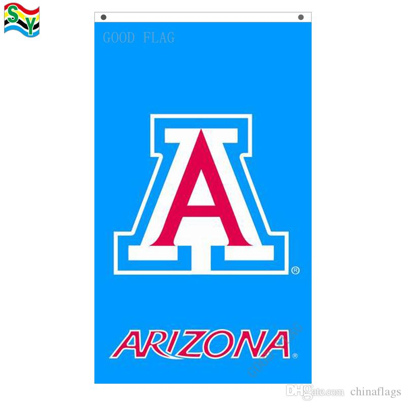 GoodFlag freies Verschiffen Arizona-wildkatzen doppelseitige Flaggenfahne 3X5 FT 90 * 150CM Polyster-Flagge im Freien