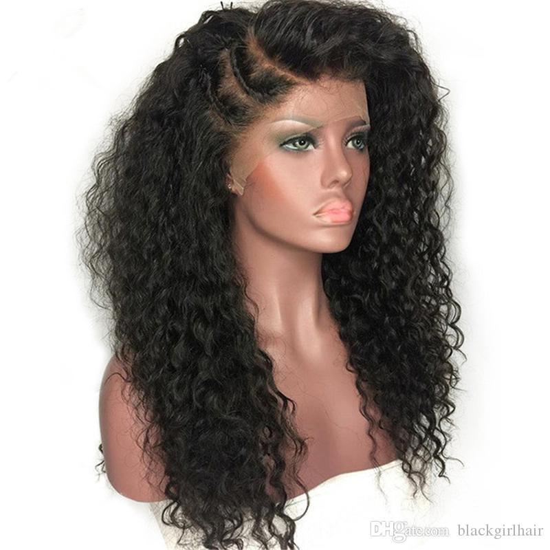 حار بيع منتجات الشعر العذراء البرازيلي الشعر اللون الطبيعي 8-26 بوصة 130-180 ٪ الكثافة يشبع الانسان الشعر الباروكات