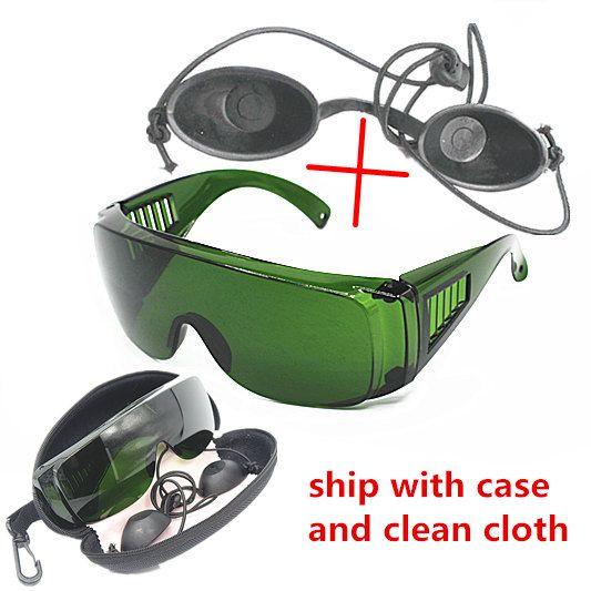 OPT / E luce / IPL / Photon strumento di bellezza occhiali protettivi di sicurezza occhiali laser rosso 340-1250nm ampio assorbimento