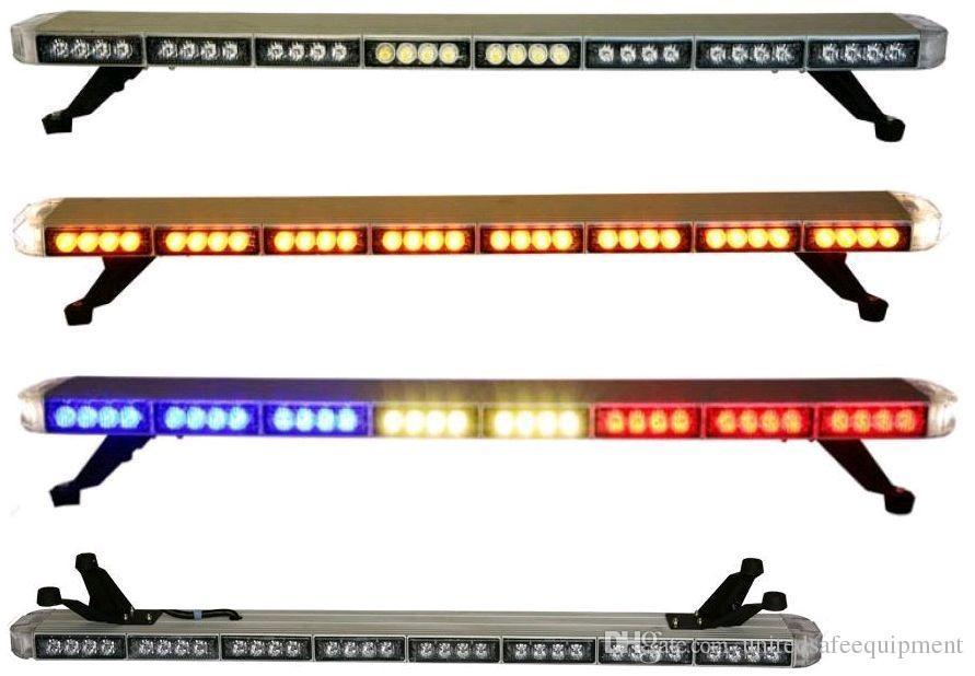 送料無料ロープロフィールgen iii 1ワットスーパーブライトLED警告ライトバー、フルサイズの車LEDライトバー(アンバー/ブルー/レッド/ホワイト)